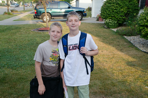 Adam's & Ryan's First Day of School 2014