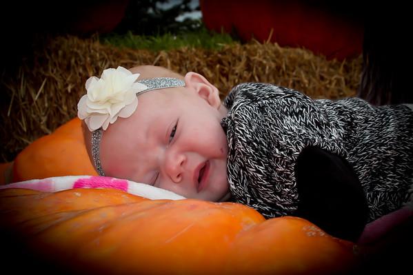 Alana 2 months Fall Photos