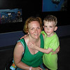 Alex and Mommy happy to cool off in the Oceans building! 6/26