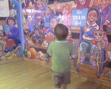 Shooting Hoops at the Children's museum