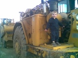 Alex on his digger!
