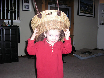 Using the basket as a hat