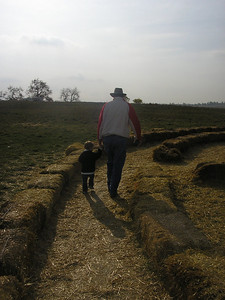 Strolling through the maze with my daddy