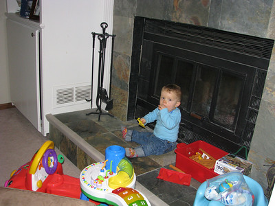 Sitting on the fireplace, oh how we love to be mobile