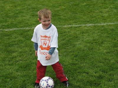 Our little soccer star!