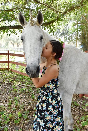 Wonderful Unicorn Theme Birthday Photo Session - 9 years old