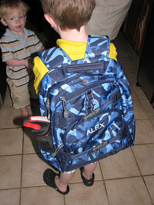 Alex's new back pack