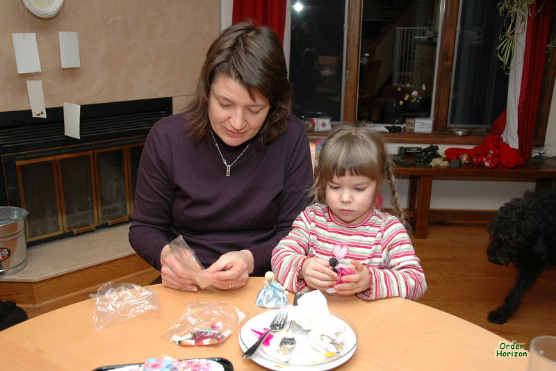 Assembling the Lego Princesses