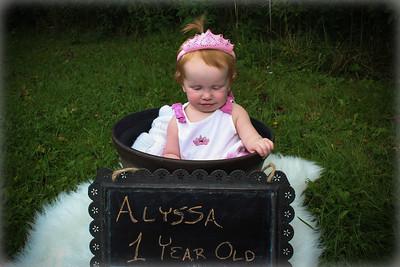 Alyssa is 1!