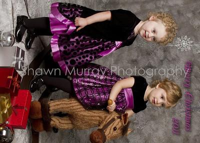 Christmas cards Anna & Brynn 2011 front