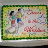 Annie had this cake made in honor of us running the half marathon this weekend.  It was a nice surprise!