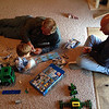 Last time Grandpa Wally came to see us he brought Chase a Lego set of a motorhome.  Since then, we got a Lego catalog and Chase saw this mobile police unit in it.  One day, Chase told me Grandpa Wally was going to bring him this mobile police unit the next time he came to see him.  We told Wally this story on Wednesday and when he came on Saturday, he had it for Chase.  Now they are putting it together.