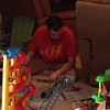 While Kenny was outside talking to our neighbor, there was a Lego disaster.  Three different sets were damaged and now in a pile together.  Kenny had to get his instruction booklets out and fix them.   Oops!
