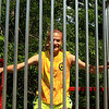 Kaylin Ciesluk at the dunk tank Sat at downtown day in Ashburnham .
