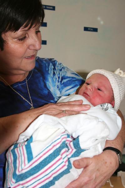 Baby Brayden arrived 7 lbs 10 ounces.