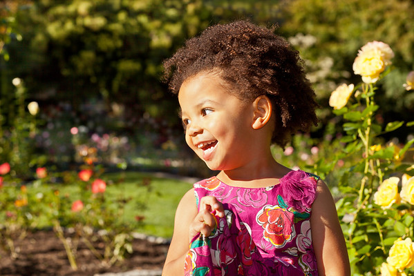 Fun in the Rose Garden. This little 3 years old is always smiling :)