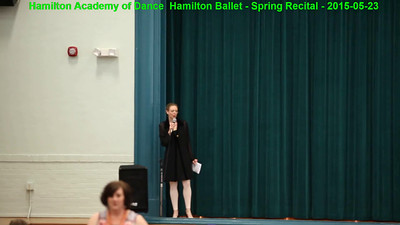 HAD-HB Spring Recital 2015 - Part 1