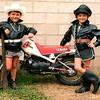 A couple of tough bikers.