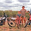 Harris boys go riding out the back of the Gem Fields by Rubyvale. Keith by our Yamaha DT-250 we got second hand. Was a great bike. Brian mainly rode it.