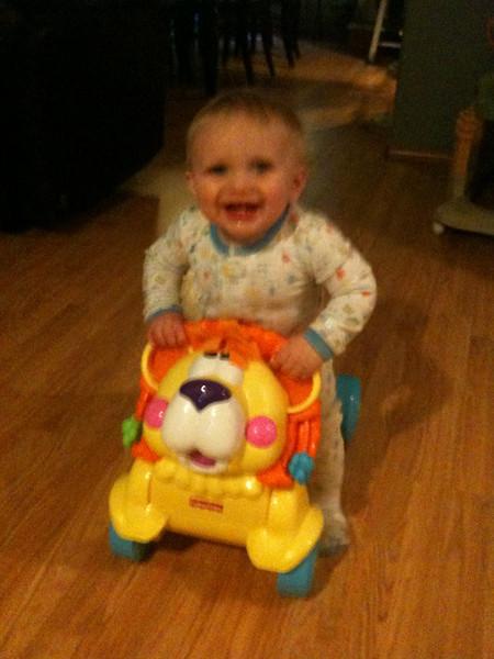 riding his lion