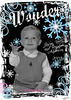 Christmas Card 1 image blkwt blue eyes