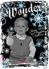 Christmas Card 1 image blkwt blue eyes