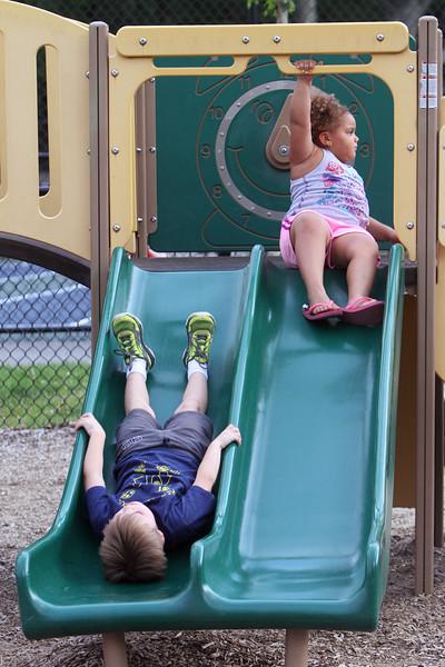 Billerica playground slide kids