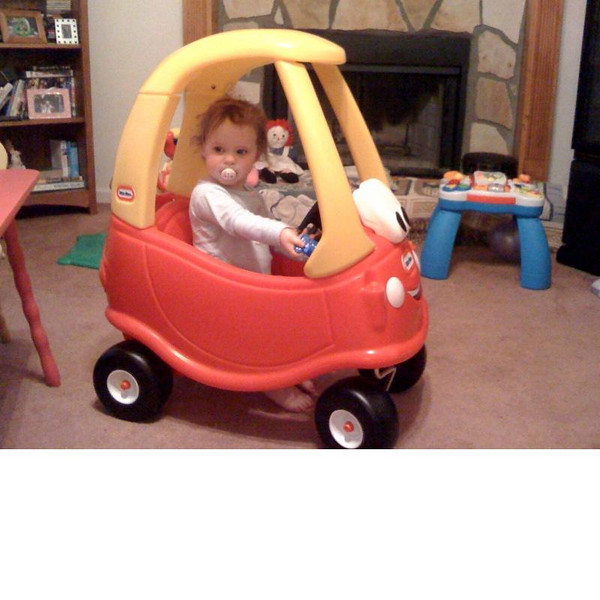 Hannah's dad bought her a new car.