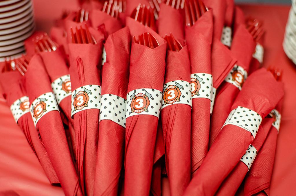 red plasticware