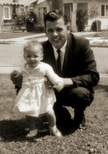 Albert Richard Bisbee with daughter Rebecca Jane Bisbee 1964