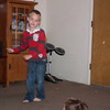 Brayton dancing to a fun CD his preschool teacher gave him.
