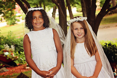 Brie & Chloe First Communion