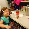 "Catherine enjoying some CBD-provided ""treats"" at my desk"