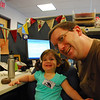 Catherine and Papa at work.