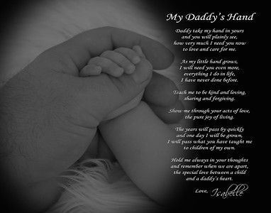 daddy's hand bw