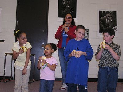 Banana Eating Contest at Kidz CLUB