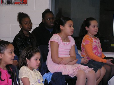 Girls listen closely for the next question during the Question and Answer session at Kid'z C.L.U.B. led by Chicago Masters Commission
