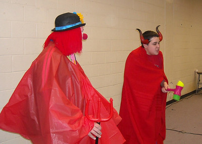 Devil is angry that Jesus has escaped from the grave. Devil plans to hit his general with a plastic mallet. Skit: Don't let Jesus come out of the grave.