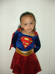 Sophia as Supergirl