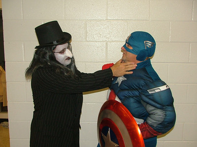 The Penguin and Capitain America