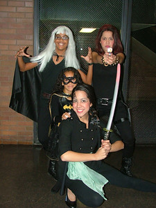 Storm  Black Widow Bat Girl  Jade the Dragon