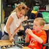 Marley Smith, 6, and Nolan Engelhardt, 7, work together at Camp Invention on Wednesday afternoon. The camp is being held at Mary Rowlandson Elementary School for students grades one through six this week in Lancaster. Students will learn through hands-on problem solving using science, technology, engineering and mathematics (STEM). SENTINEL & ENTERPRISE / Ashley Green