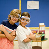 Sean Tarver, 10, and Chiana Bravo, 8, at Camp Invention. The camp is being held at Mary Rowlandson Elementary School for students grades one through six this week in Lancaster. Students will learn through hands-on problem solving using science, technology, engineering and mathematics (STEM). SENTINEL & ENTERPRISE / Ashley Green