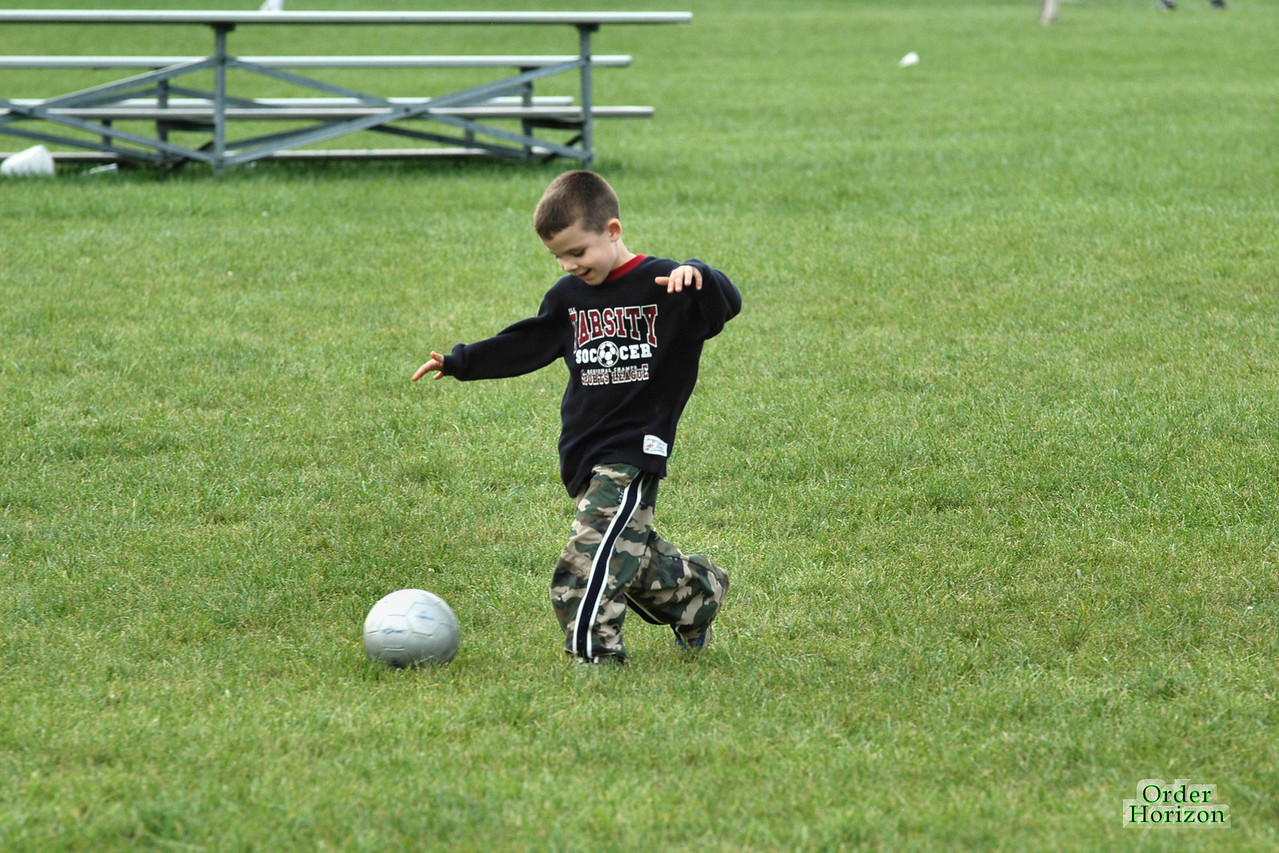 First ever Charles playing soccer picture