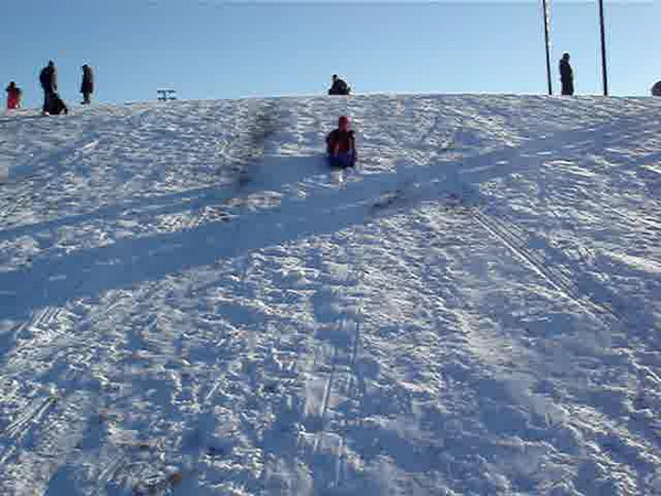Charles sleds by for the camera
