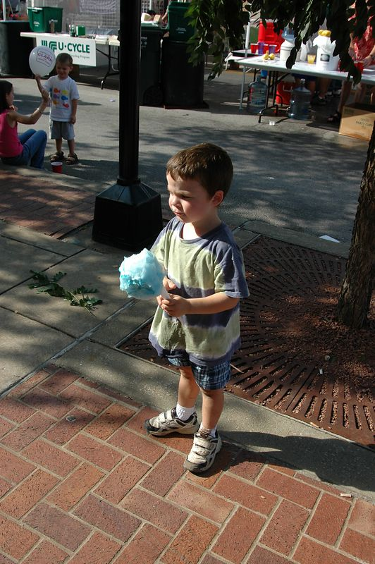 The mighty hunter must take his own cotton candy