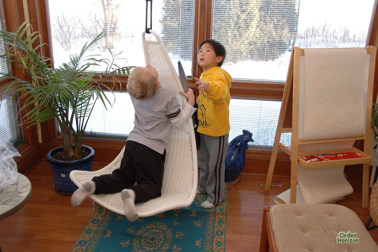 Mom's new chair was fascinating.