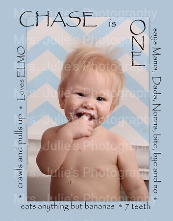 Chase is ONE!