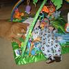 Wade likes the playmat too.  He really does enjoy the noisy toys!
