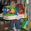 He's so tall now, he stands flatfooted while in the jumperoo and holds himself and the jumperoo up.